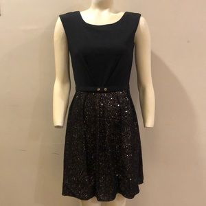 LAUNDRY by Shelli Segal Black Sequin Dress